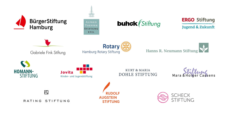 BürgerStiftung Hamburg, Ehlerding Stiftung, Homann-Stiftung, Kurt & Maria Dohle Stiftung, Rating-Stiftung, Rudolf Augstein Stiftung
